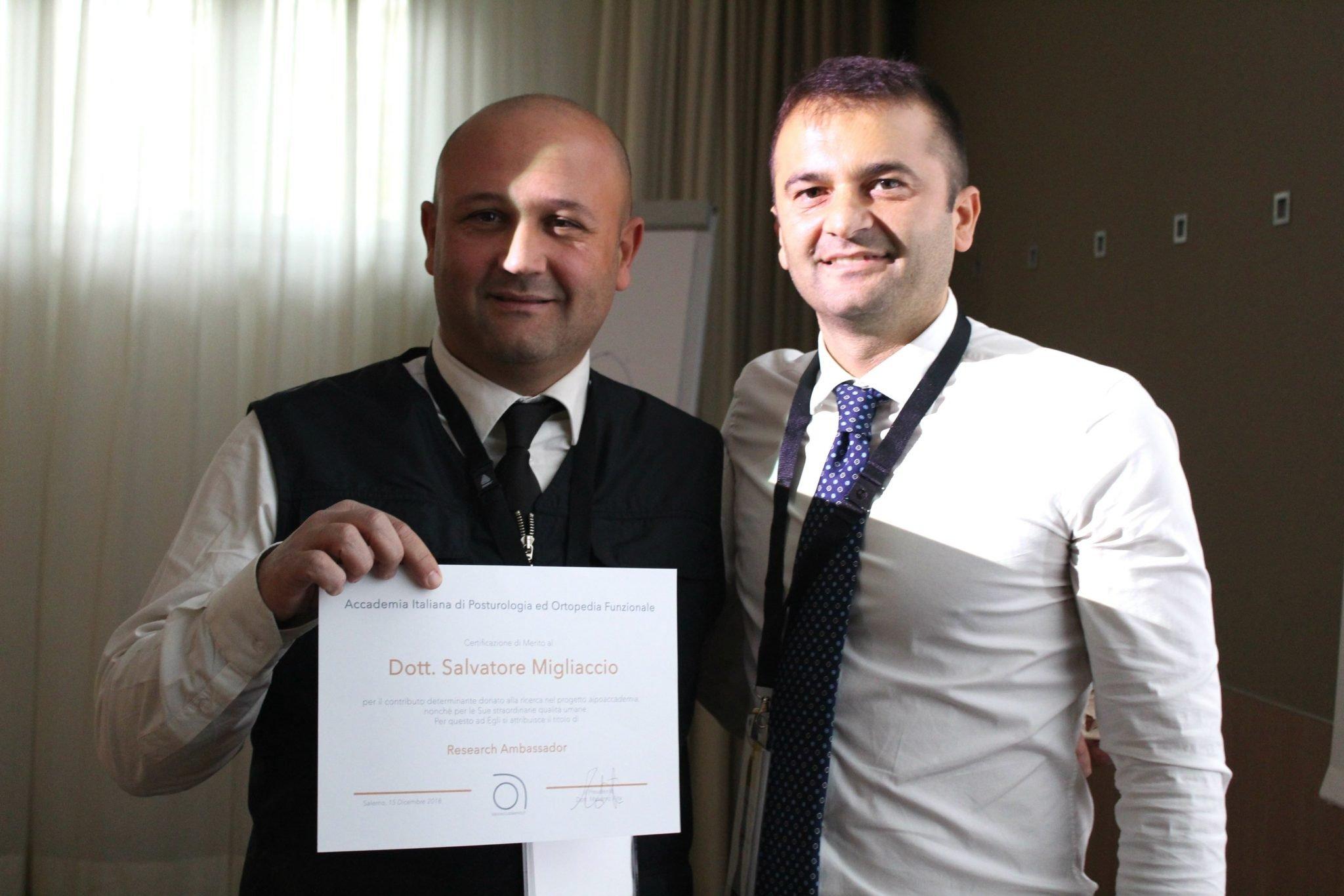 Dott. Salvatore Migliaccio Research Ambassador diaipoaccademia